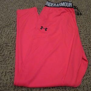 Under Armour Tech Jogger Pant Size YLG Penta Pink HeatGear New